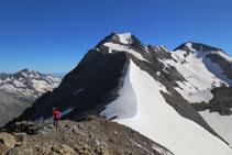 Descens del pic Pavots al coll de Pavots.