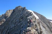 La cresta es torna més retallada i aèria.