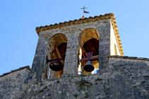 Detall del campanar de Santa Cecília.