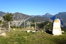 Extenses vistes de l´Alta Garrotxa des de Santa Bàrbara.