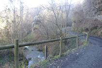 Creuem el Pamano pel pont de Rions.