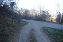 Arribem a la carretera d´Olp a Pujalt.