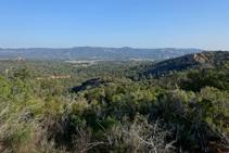 La vall de Ridaura pujant als Carcaixells.