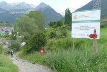 Punt d´inici del Camí Natural de l´embassament de Lanuza.