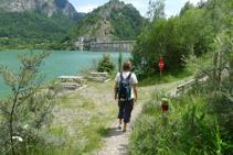 Última zona de descans del Camí Natural. Ja estem a prop de la presa.