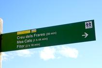 Cartell indicatiu a l´inici de la ruta.