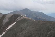 Cresta entre els dos Gra de Fajol i el Balandrau.