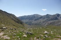 La vall de Campcardós des del port de Fontnegra.