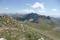 Pics de Fontnegra des dels pics d´Envalira.