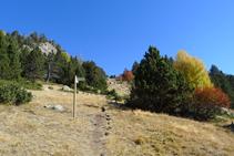 Trencall de la vall de Claror.