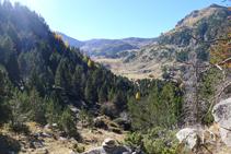 Vistes de la capçalera de la vall de Claror, on ens dirigim.