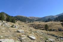 Capçalera de la vall de Perafita des del refugi de Perafita.