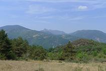 Vistes de la serra de Sant Gervàs (al fons).