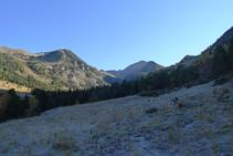 Avancem per un corriol de muntanya.