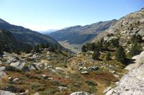 Vista de la vall d´Incles des del mirador de la Pleta de Juclar.