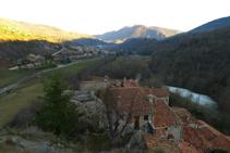 Vistes de la vall i de Llanars des del punt més elevat de la Roca.