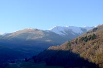 Les muntanyes d´Ulldeter des del punt més elevat de la Roca.
