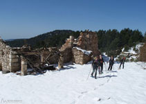 Masia abandonada Casa Ferrús, un lloc de notable interès.
