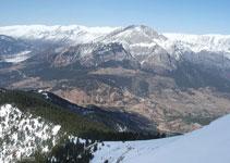 Primer cop en tota la ruta que veiem la vall de Gósol amb el Pedraforca i la serra del Cadí.
