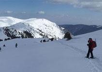 Panoràmica de la part oriental de la serra d´Ensija, baixant de la Gallina Pelada.