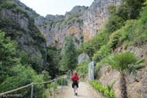 Primer tram de terra que ens  dóna accés al canyó.