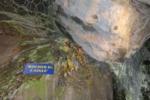 Detall de la Roca de l´Àguila.