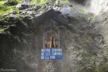 Detall de <i>Nostra Senyora de les Canyons de la Fou</i>.