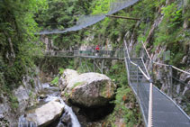 El canyó s´obre una mica en el tram final del recorregut.