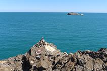 Punt d´inici del GR 11 a la punta del Cap de Creus.