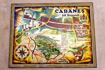 Plànol del nucli de Cabanes.