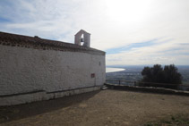 Ermita de Sant Onofre, situada en un lloc privilegiat.