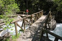 Pont de la Gorga. Punt final de la passarel·la.