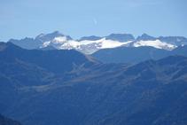La glacera de la Maladeta i el pic de l´Aneto.