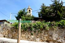 Cruïlla sota l´església de Montcortès.