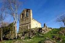 Campanar d´espadanya de Sant Miquel del Mont.