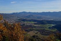 Olot i la zona volcànica de la Garrotxa.