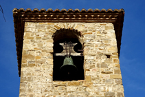 Detall del campanar de Sant Andreu.