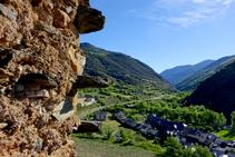 Vistes des del castell de Rialp.