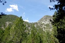 Típica forma d´U de les valls d´origen glacial.