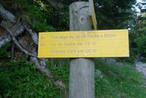 """Indicació de """"Lac de Gaube par GR 10""""."""