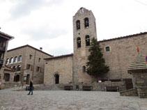 Església de Santa Maria de n´Hug del segle XII.