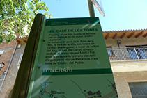 Panell explicatiu del Camí de les Fonts.