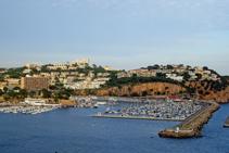 El port de Sant Feliu de Guíxols.