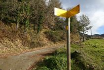 Pal indicatiu R177 camí al mas Lladré.