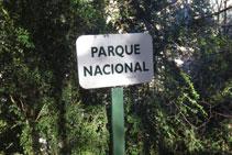 El camí entra a l´interior dels límits del Parc Nacional.