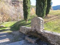 Molta gent ve fins a la Font de la Figuereta per agafar aigua.