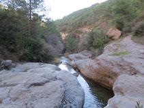 Les aigües del barranc de Sant Pere.