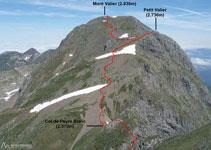 Vista del Mont Valier des del pic de la Pala Clavera.