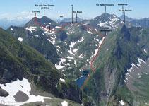 Vista de part del recorregut d´aquesta segona jornada de ruta, des del pic de la Pala Clavera.
