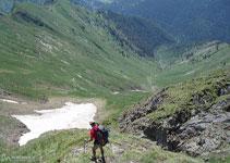 Al davant, tota la vall que hem de baixar per arribar a la Noguera Pallaresa.